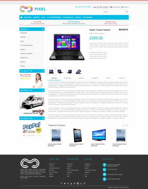 html product page template free - professional sixty4 ebay shop design